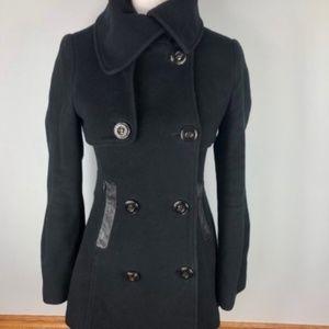 Mackage Black Wool Pea Coat XS